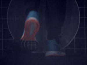 Ganganalyse Fuß rechtes Seite